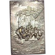 SALE Match Safe With Multi-Figural Scene Of A Folk Band in High Relief