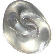 REDUCED Art Glass Paperweight Signed Iridescent Mollusk Shell