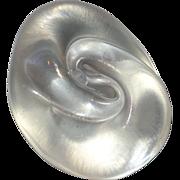 SALE Art Glass Paperweight Signed Iridescent Mollusk Shell