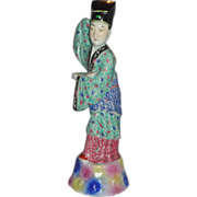 SALE Chinese Porcelain Standing Scholar With Ruyi (Symbol of Authority and Power)