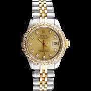 SOLD Rolex DateJust Diamond Ladies Watch, Appraised For $15,750.00