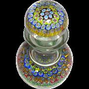 SALE Murano Art Glass Millefiori Decanter