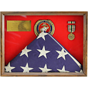 SALE American Flag Flown Over Kuwait City During Liberation Of Kuwait; A Southwest Asia Bronze