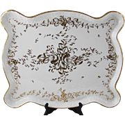 Limoges France Hand-Painted Porcelain Tray, with Maker's Mark, 'Hand Painted', and 'Made In ..