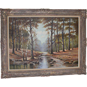 REDUCED Albert Blaetter (German 1878 - 1935) Very Large Signed Original Antique Oil Painting