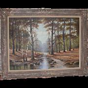 SALE Albert Blaetter (German 1878 - 1935) Very Large Signed Original Antique Oil Painting