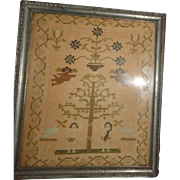 "Circa 1815 Sampler ""The Fall And Redemption of Man"" From The Collection Of J. L ..."