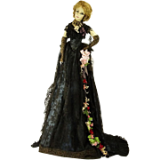 MICHELE PRASIL One Of A Kind Doll , Dressed In Chantilly Lace Gown, Mink Stole, and ...