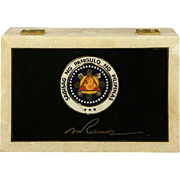 REDUCED Marble Box Presented By Philippines President Fidel Ramos to General Alexander Haig, U