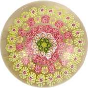 SALE Baccarat Concentric Millefiori Paperweight, Signed