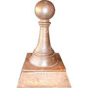 SALE Very Unusual Large Carved Wooden Pawn Housing A Chess Set and Board