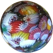 Unusual Matte Finish Miniature Millefiori, Circa Mid 1800s