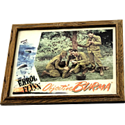 "SALE ERROL FLYNN Original Lobby Card ""Objective Burma"" c. 1945"