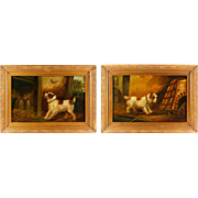 SALE Pair Of Original Oil Paintings Of Terriers