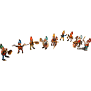 SOLD Bergmann Complete TEN Piece Vienna Bronze Miniature Gnome Orchestra, Signed