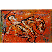 """REDUCED ALEXANDER GORE (Russian 20th Century) """"The Run Of Attoles Turtles"""", Mixed Me"""