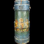 "Outstanding Historical British Royal Navy ""Powder Monkey Bucket"", C. 1800"
