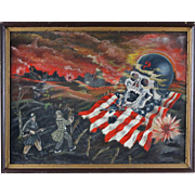 "Original Oil ""JFK Wins - 1961""  Signed/Dated  Metzger 1961"