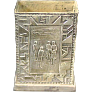 REDUCED Golf Scenes On Match Safe, Silver-Plate, Made in Japan, circa 1920