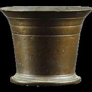 Antique Hand Hammered Bronze Mortar