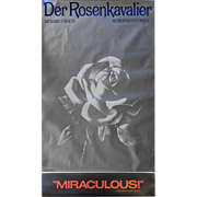 "REDUCED Metropolitan Opera Poster ""Der Rosen Kavalier"" by Richard Strauss"