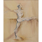 """Ballet Dancer"" - Sensuous Stylized Original Acrylic on Canvas, Cynthia Ruskin (Amer"