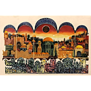 "REDUCED Large Signed/Numbered Limited Edition ""Sunset In Jerusalen"" Embossed Lithogr"