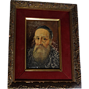 "Signed Original Oil Painting, Old Master Style, ""Portrait Of A Priest"""