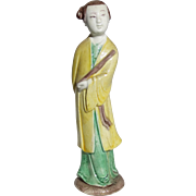 Standing Chinese Mudwoman Carrying Flute (Symbol of Giving Life)