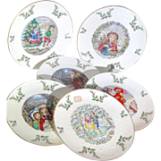 SALE Royal Doulton Christmas Plates -First Through Sixth - 1977 through 1982