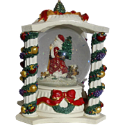 "SALE Revolving Musical Snow Globe With Glittering Snow Playing ""Deck The Halls"""