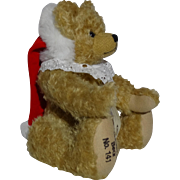 SALE Limited Edition Hermann Mohair Christmas Bear, Signed and Numbered