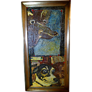 """REDUCED ALEXANDER GORE (Russian 20th Century) """"Island Dog Yesterday and Today"""", Very"""