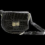 REDUCED CELINE Vintage Designer Black Leather Handbag