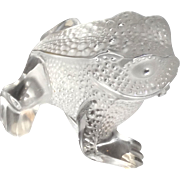 "REDUCED LALIQUE Paris, France - ""Gregoire"" Fine Crystal Frog"