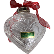 REDUCED Waterford Marquis Crystal Heart Paperweight