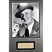 """Jimmy"" Durante (February 10, 1893 – January 29, 1980) -  Framed Photograph and Au"