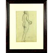 "ANTONINA F. SOFRONOVA (Russian - 1892-1966) ""Female Nude Study"" -Signed With Cyrilli"