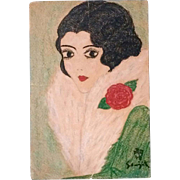 REDUCED Leonard Tsuguharu Foujita (Japanese 1886-1968) Original Signed Portrait of A Woman
