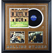 "ROLLING STONES - Framed Memorabilia Including SIGNED ""Hot Rocks"" Album (With  Verifi"