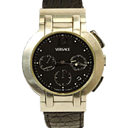 REDUCED VERSACE Men's Vintage Stainless Steel Chronograph Automatic Movement