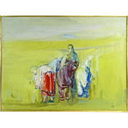 """Nomads"" - Signed Original Oil On Canvas, 20th Century"
