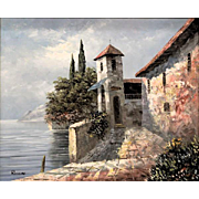 "Italian Original Oil On Canvas - Signed ""Rossini"""