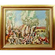 "CHARLES DUFRESNE (French 1876-1938) Original Signed Oil on Canvas ""Rape of Aurora"""