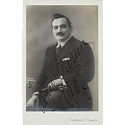 ENRICO CARUSO (Italian 1873 – 1921)   - Signed and Dated  Photograph, c. 1907