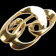 REDUCED Tiffany and Co 18 Karat Gold Paloma Picasso Pin.