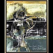 "Juan Carlos Gomez de la Vega (Argentinean-American 20th/21st Century)-Original Gouache ""S"
