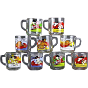 REDUCED Nine (9) 1978 Garfield Collector's Mugs.