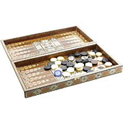 Persian Inlaid Backgammon Game Set