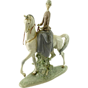 "REDUCED LLADRO  Signed ""Woman On A Horse"" Ref. 4516,"
